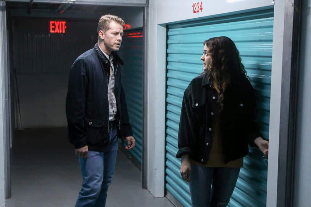 "MANIFEST -- ""Reentry"" Episode 102 --  Pictured: (l-r) Josh Dallas as Ben Stone, Luna Blaise as Olive Stone -- (Photo by: Craig Blankenhorn/NBC)"