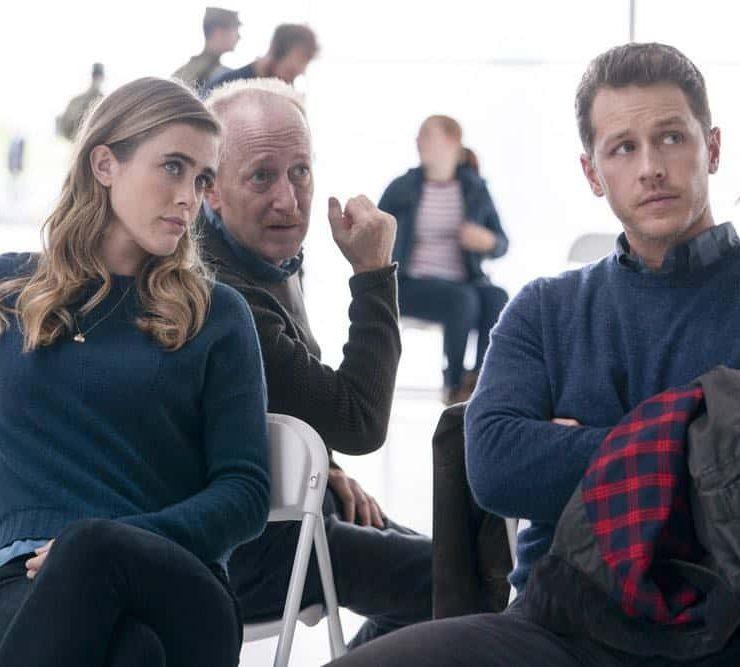 "MANIFEST -- ""Reentry"" Episode 102 -- Pictured: (l-r) Melissa Roxburgh as Michaela Stone, Josh Dallas as Ben Stone -- (Photo by: Peter Kramer/NBC)"