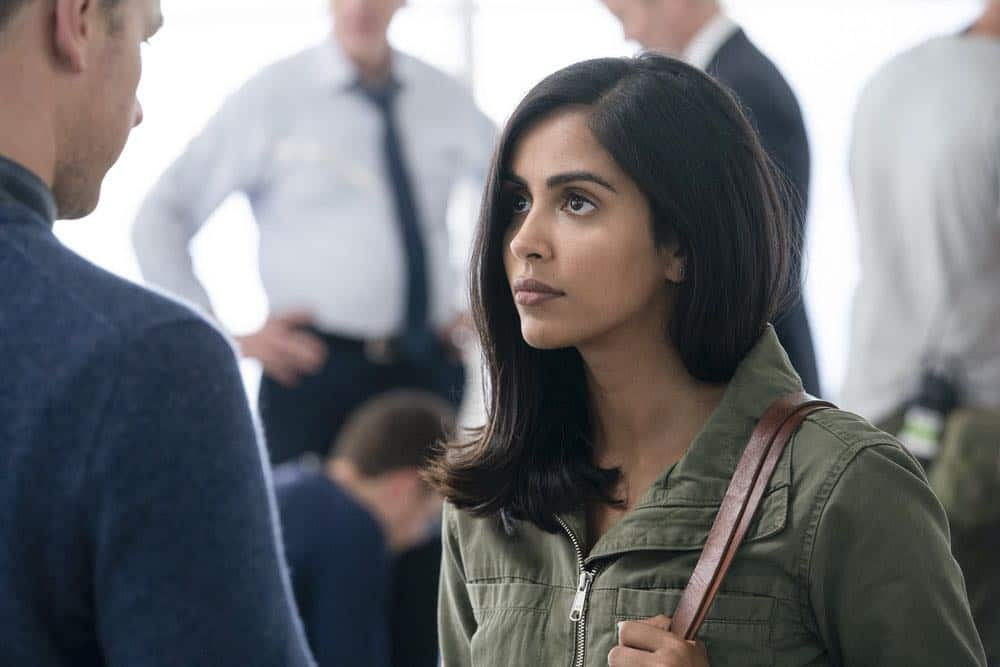 "MANIFEST -- ""Reentry"" Episode 102 -- Pictured: Parveen Kaur as Saanvi -- (Photo by: Peter Kramer/NBC)"