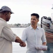 """""""From the Head Down"""" - Magnum helps a struggling fisherman and fellow Veteran when his 300 pound tuna worth $350K is stolen, but they discover that the thief needs Magnum's help as well, on MAGNUM P.I., Monday, Oct. 1 (9:00-10:00 PM, ET/PT) on the CBS Television Network. Pictured L-R: Carl Weathers as Dan Sawyer and Jay Hernandez as Thomas Magnum Photo: CBS ©2018 CBS Broadcasting, Inc. All Rights Reserved"""