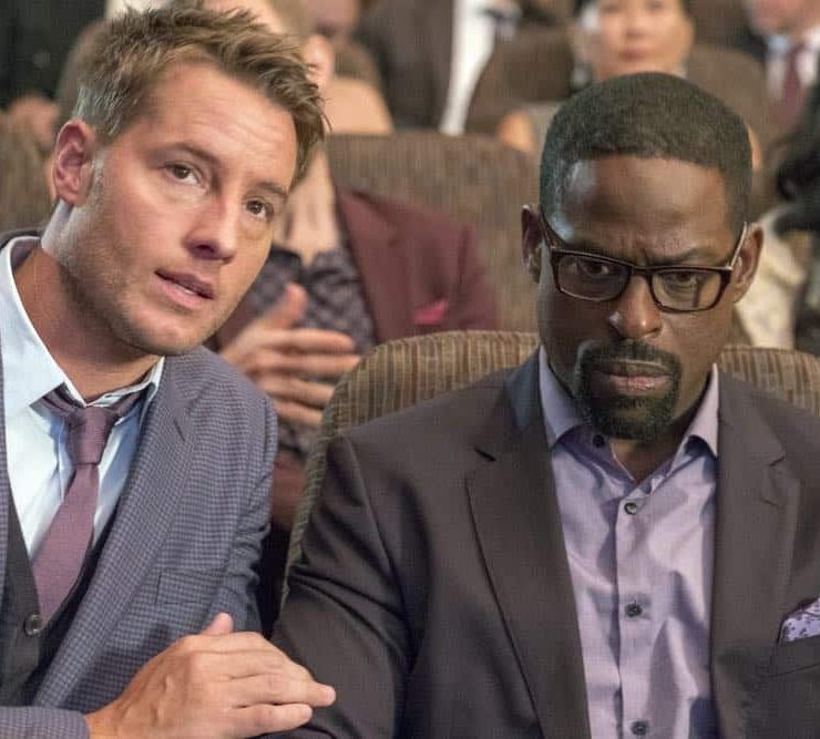 "THIS IS US -- ""A Philadelphia Story"" Episode 302 -- Pictured: (l-r) Justin Hartley as Kevin Pearson, Sterling K. Brown as Randall Pearson -- (Photo by: Ron Batzdorff/NBC)"