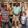 THE NEIGHBORHOOD stars Cedric the Entertainer in a comedy about what happens when Dave Johnson, the friendliest guy in the Midwest, moves his family to a neighborhood in Los Angeles where not everyone looks like him or appreciates his extreme neighborliness. Cedric the Entertainer plays the Johnsons' opinionated next-door neighbor, Calvin Butler, who is wary of the newcomers, and certain that the Johnsons will disrupt the culture on the block. THE NEIGHBORHOOD will premiere Monday, October 1st (8:00-8:30 PM, ET/PT) on the CBS Television Network. Pictured (L-R): Sheaun McKinney (Malcolm Butler), Marcel Spears (Marty Butler), Tichina Arnold (Tina Butler), Cedric the Entertainer (Calvin Butler), Max Greenfield (Dave Johnson), Hank Greenspan (Grover Johnson) and Beth Behrs (Gemma Johnson). Photo: Bill Inoshita/CBS 2018 CBS Broadcasting, Inc. All Rights Reserved.