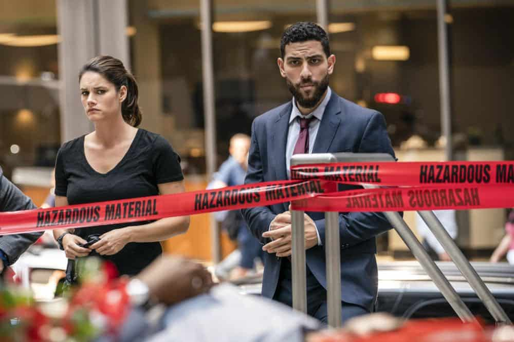 ÒGreen BirdsÓ Ð After eight people are fatally poisoned at a deli in New York City, special agents Maggie Bell and OA Zidan trace the crime to an unlikely culprit and conduct a sting operation to prevent further attacks, on FBI, Tuesday, Oct. 2 (9:00-10:00 PM, ET/PT) on the CBS Television Network. Pictured: Missy Peregrym, Zeeko Zaki Photo: Michael Parmelee/CBS ©2018 CBS Broadcasting, Inc. All Rights Reserved