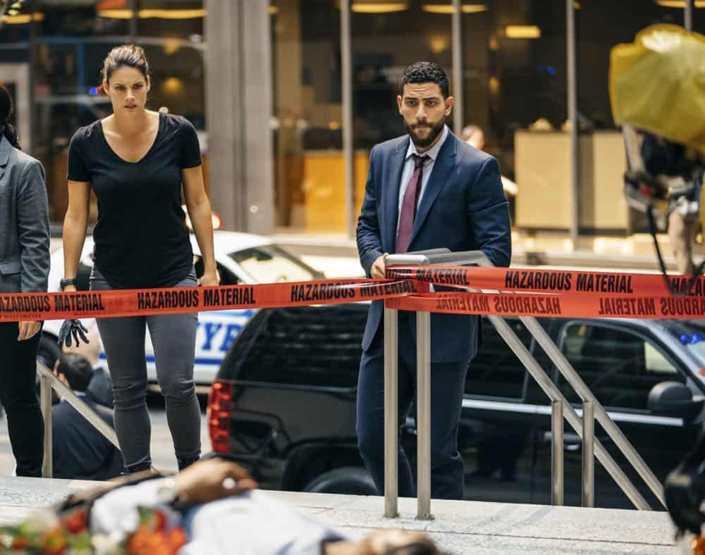 ÒGreen BirdsÓ Ð After eight people are fatally poisoned at a deli in New York City, special agents Maggie Bell and OA Zidan trace the crime to an unlikely culprit and conduct a sting operation to prevent further attacks, on FBI, Tuesday, Oct. 2 (9:00-10:00 PM, ET/PT) on the CBS Television Network. Pictured: Missy Peregrym, Zeeko Zaki. Photo: Michael Parmelee/CBS ©2018 CBS Broadcasting, Inc. All Rights Reserved