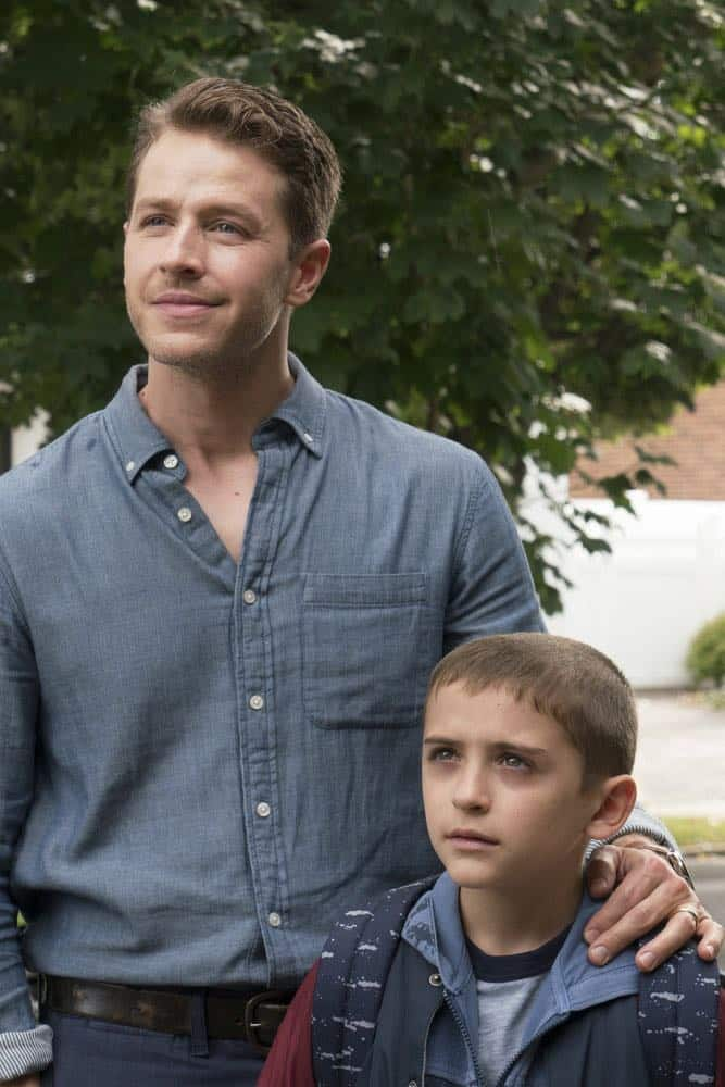 "MANIFEST -- ""Turbulence"" Episode 103 -- Pictured: (l-r) Josh Dallas as Ben Stone, Jack Messina as Cal Stone -- (Photo by: Barbara Nitke/NBC/Warner Brothers)"