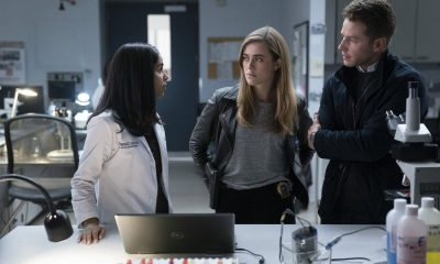 "MANIFEST -- ""Turbulence"" Episode 103 -- Pictured: (l-r) Parveen Kaur as Saanvi Bahl, Melissa Roxburgh as Michaela Stone, Josh Dallas as Ben Stone -- (Photo by: Peter Kramer/NBC/Warner Brothers)"