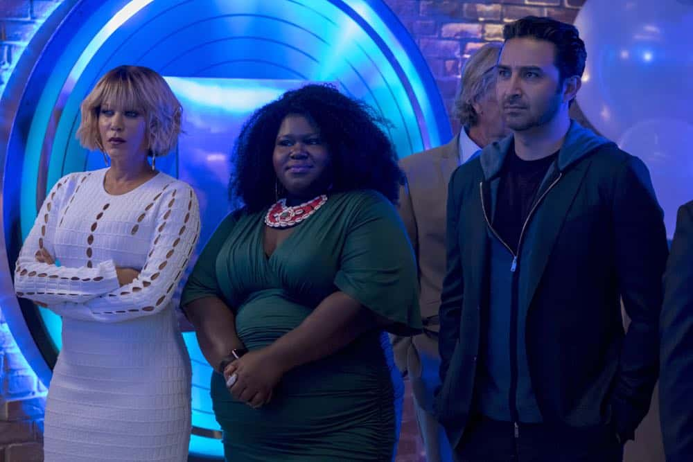 "EMPIRE: L-R: Nicole Ari Parker, Gabourey Sidibe and Pej Vahdat in the ""Pay For Their Presumptions"" Season Five episode of EMPIRE airing Wednesday, Oct. 3 (8:00-9:00 PM ET/PT) on FOX. @2018 Fox Broadcasting Co. CR: Chuck Hodes/FOX."