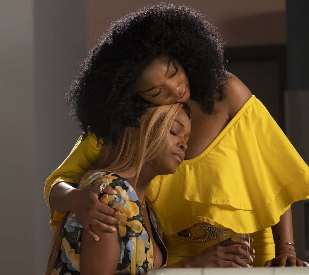 """STAR: L-R: Amiyah Scott and Brandy Norwood in the """"Who's The Daddy"""" Season Three episode of STAR airing Wednesday, October 3 (9:00-10:00 PM ET/PT) on FOX. ©2018 Fox Broadcasting Co. CR: Wilford Harewood/FOX"""