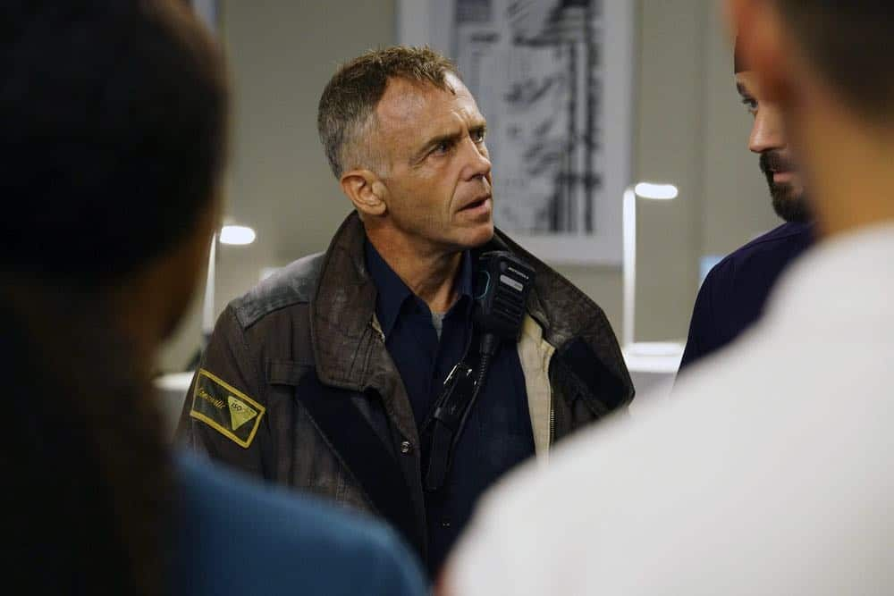 "CHICAGO MED -- ""When To Let Go"" Episode 402 -- Pictured: David Eigenberg as Christopher Herrmann -- (Photo by: Elizabeth Sisson/NBC)"