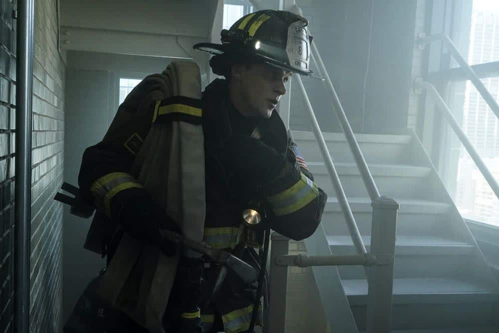 "CHICAGO FIRE -- ""Going to War"" Episode 702 -- Pictured: Jesse Spencer as Matthew Casey -- (Photo by: Elizabeth Morris/NBC)"