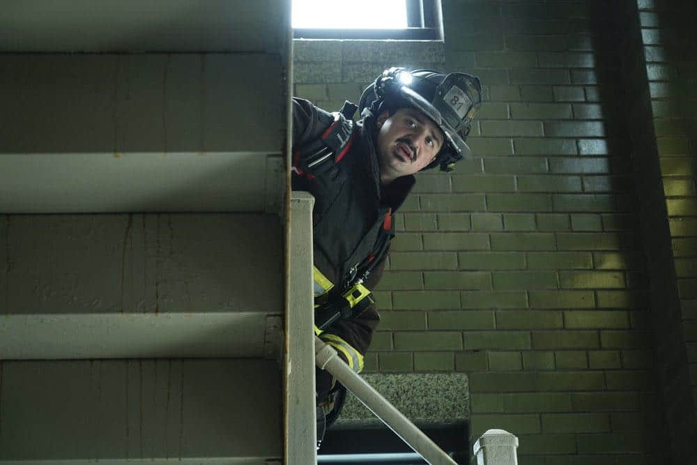 "CHICAGO FIRE -- ""Going to War"" Episode 702 -- Pictured: Yuri Sardarov as Brian ""Otis"" Zvonecek -- (Photo by: Elizabeth Morris/NBC)"