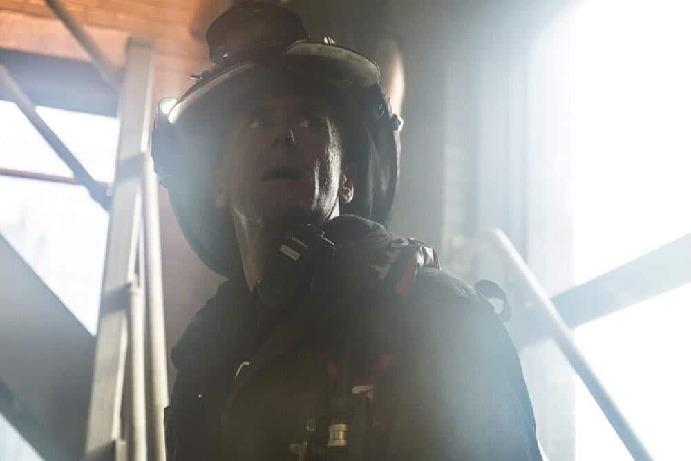 "CHICAGO FIRE -- ""Going to War"" Episode 702 -- Pictured: David Eigenberg as Christopher Herrmann -- (Photo by: Elizabeth Morris/NBC)"