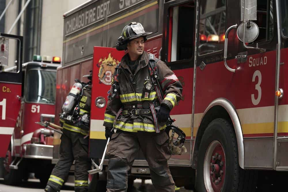 "CHICAGO FIRE -- ""Going to War"" Episode 702 -- Pictured: Taylor Kinney as Kelly Severide -- (Photo by: Elizabeth Morris/NBC)"
