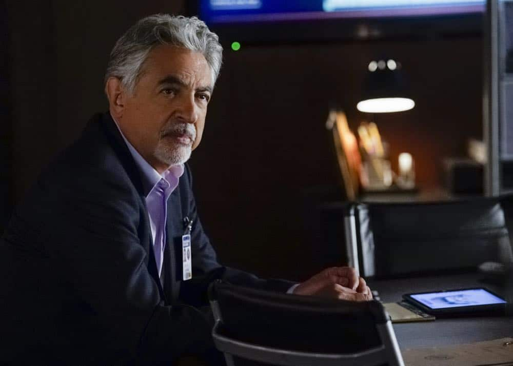 """300"" -- When Reid and Garcia are abducted by Benjamin Merva (Michael Hogan), it's up to the rest of the team to find them. The BAU finds surprising clues in their own history to solve why the two heroes have been targeted by a mass murderer. It's a race to save them before a ""Believers"" prophecy is fulfilled, on the 14th season premiere of CRIMINAL MINDS, Wednesday, Oct. 3 (10:00-11:00 PM, ET/PT) on the CBS Television Network.  Pictured: Joe Mantegna (David Rossi)   Photo: Cliff Lipson/CBS ©2018 CBS Broadcasting, Inc. All Rights Reserved"