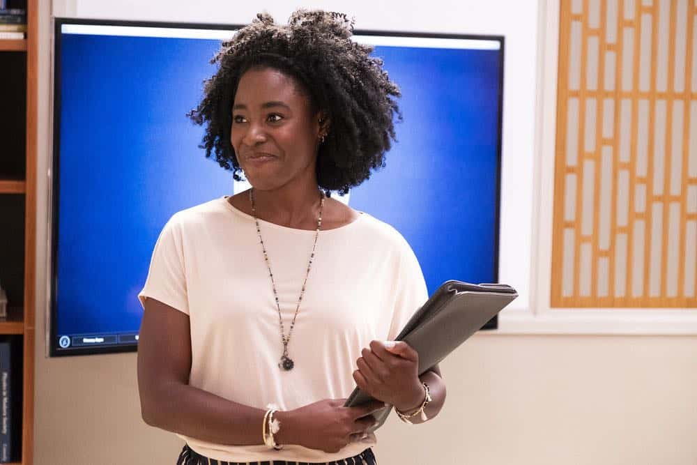 "THE GOOD PLACE -- ""The Brainy Bunch"" Episode 303 -- Pictured: Kirby Howell-Baptiste as Simone Garnett -- (Photo by: Justin Lubin/NBC)"