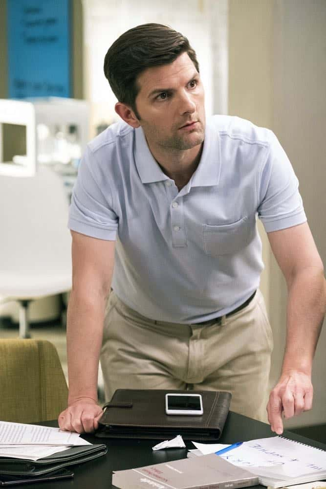 "THE GOOD PLACE -- ""The Brainy Bunch"" Episode 303 -- Pictured: Adam Scott as Trevor -- (Photo by: Justin Lubin/NBC)"
