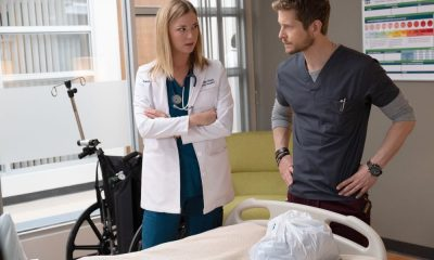 "THE RESIDENT: L-R: Emily VanCamp and Matt Czuchry in the ""Three Words"" episode of THE RESIDENT airing Monday, Oct. 1 (8:00-9:00 PM ET/PT) on FOX. ©2018 Fox Broadcasting Co. Cr: Erika Doss/FOX."