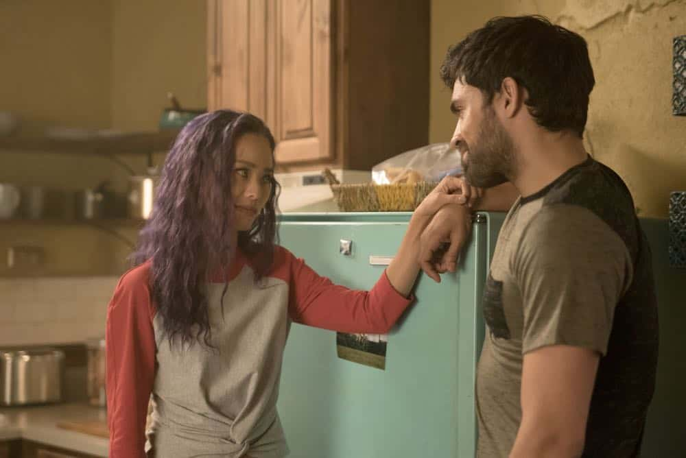 "THE GIFTED: L-R:  Jamie Chung and Sean Teale in the ""coMplications"" episode of THE GIFTED airing Tuesday, Oct. 9 (8:00-9:00 PM ET/PT) on FOX. ©2018 Fox Broadcasting Co. Cr: Annette Brown/FOX."