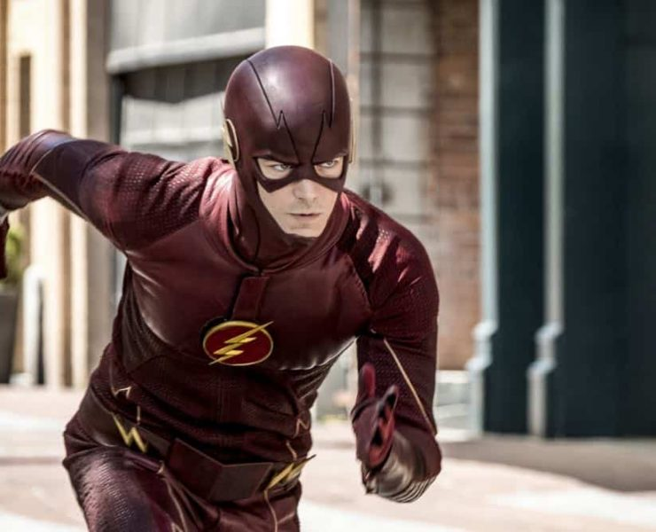 """The Flash -- """"Nora"""" -- Image Number: FLA501b_0004b.jpg -- Pictured: Grant Gustin as The Flash -- Photo: Katie Yu/The CW -- © 2018 The CW Network, LLC. All rights reserved"""