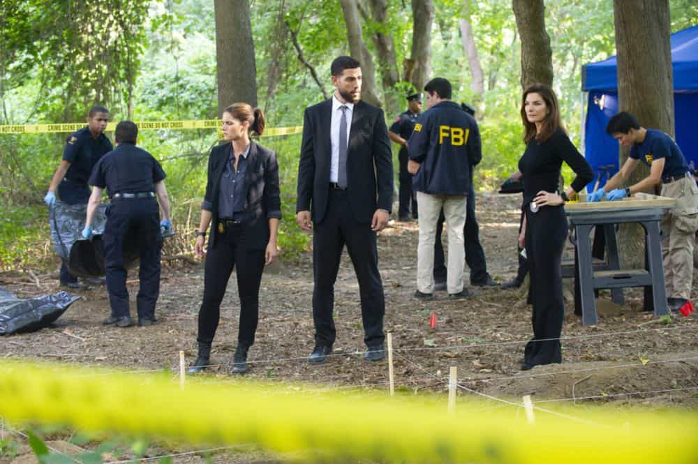 ÒPreyÓ Ð Special Agent Maggie Bell, Special Agent OA Zidan and the team investigate the murders of 18 young women with help from a survivor associated with the deceased, on FBI, Tuesday, Oct. 9 (9:00-10:00 PM, ET/PT) on the CBS Television Network. Pictured: Missy Peregrym, Zeeko Zaki, Sela Ward Photo: Jeffrey Neira/CBS ©2018 CBS Broadcasting, Inc. All Rights Reserved