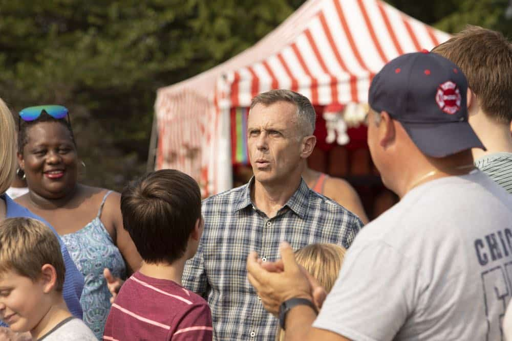 "CHICAGO FIRE -- ""Thirty Percent Sleight of Hand"" Episode 703 -- Pictured: David Eigenberg as Christopher Herrmann -- (Photo by: Adrian Burrows/NBC)"
