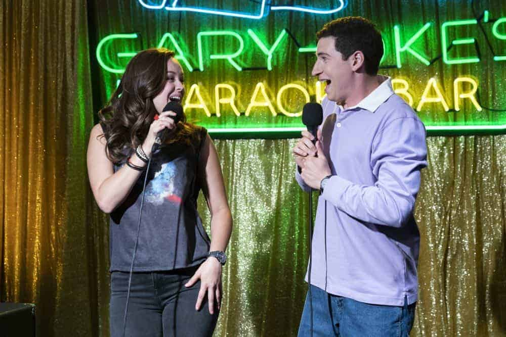 """THE GOLDBERGS - """"RAD!"""" - Erica thinks all of her singing dreams are going to come true when she lands a job at the new karaoke bar in town. But when she's tasked with bringing in more customers, will Erica regret turning to Beverly for help? Meanwhile, Murray tries to teach Barry and Lainey how to be financially responsible adults, on """"The Goldbergs,"""" WEDNESDAY, OCT. 10 (8:00-8:30 p.m. EDT), on The ABC Television Network. (ABC/Ron Tom) HAYLEY ORRANTIA, SAM LERNER"""