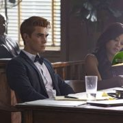 "Riverdale -- ""Chapter Thirty-Six: Labor Day"" -- Image Number: RVD301b_0113.jpg -- Pictured (L-R): KJ Apa as Archie and Robin Givens as Sierra McCoy -- Photo: Jack Rowand/The CW -- © 2018 The CW Network, LLC. All Rights Reserved."