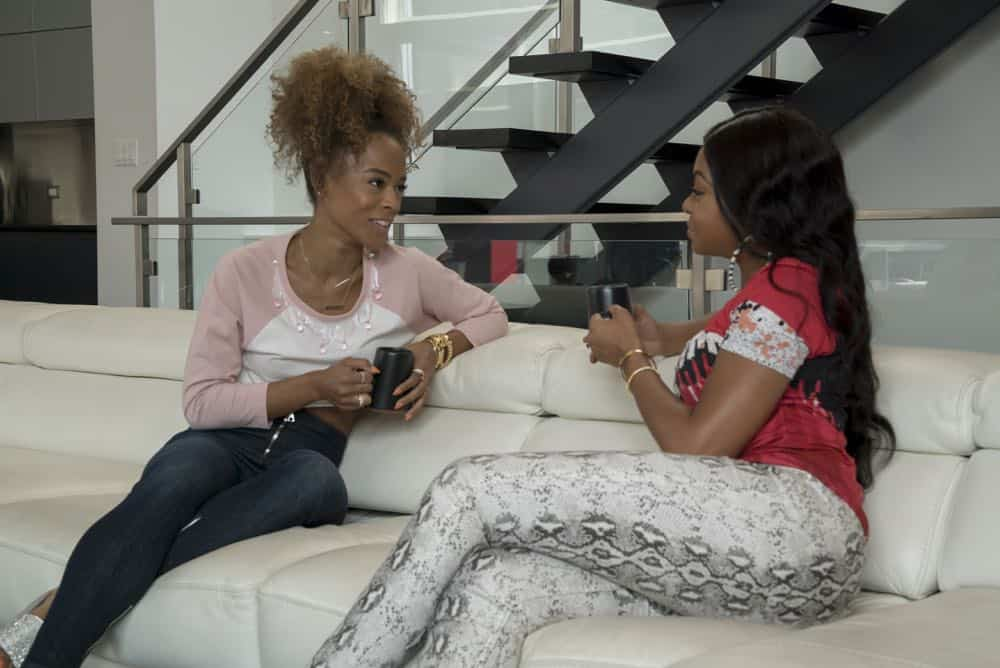 "EMPIRE: L-R: Serayah and Taraji P. Henson in the ""Pride"" episode of EMPIRE airing Wednesday, Oct. 10 (8:00-9:00 PM ET/PT) on FOX. @2018 Fox Broadcasting Co. CR: Chuck Hodes/FOX."