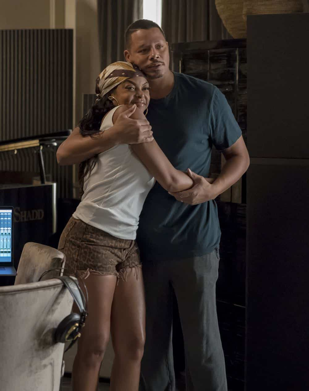 """EMPIRE: L-R: Taraji P. Henson and Terrence Howard in the """"Pride"""" episode of EMPIRE airing Wednesday, Oct. 10 (8:00-9:00 PM ET/PT) on FOX. @2018 Fox Broadcasting Co. CR: Chuck Hodes/FOX."""