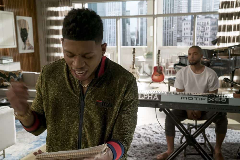 "EMPIRE: L-R: Bryshere Y. Gray and Jussie Smollett in the ""Pride"" episode of EMPIRE airing Wednesday, Oct. 10 (8:00-9:00 PM ET/PT) on FOX. @2018 Fox Broadcasting Co. CR: Chuck Hodes/FOX."