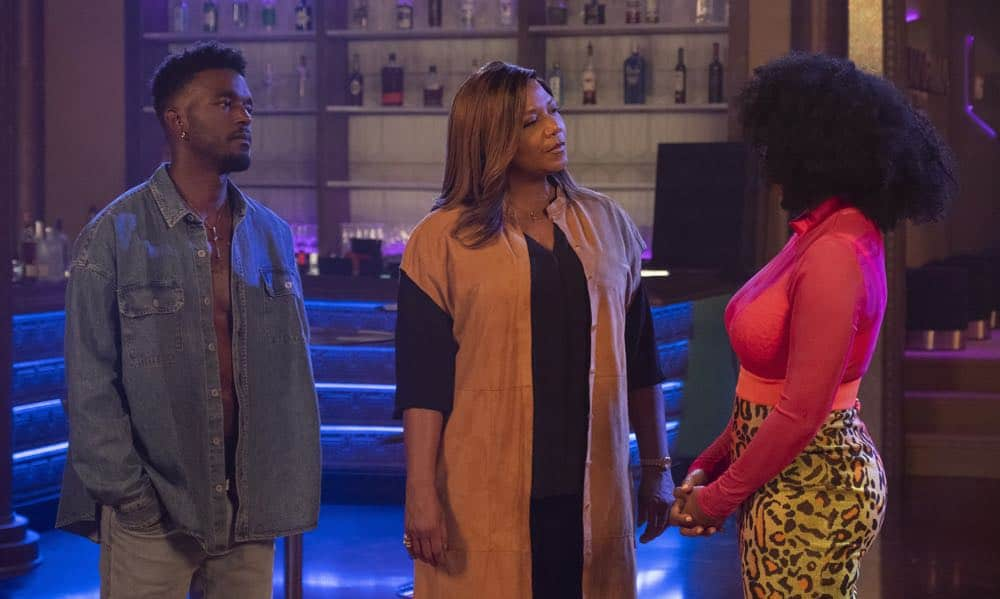 "STAR: L-R: Luke James, Queen Latifah and Brandy Norwood in the ""A Family Affair"" episode of STAR airing Wednesday, Oct. 10 (9:00-10:00 PM ET/PT) on FOX. ©2018 Fox Broadcasting Co. CR: Wilford Harewood/FOX"