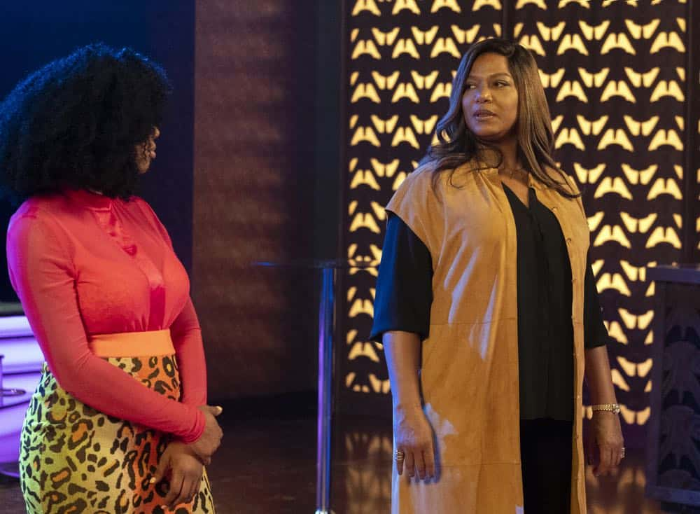 "STAR: L-R: Brandy Norwood and Queen Latifah in the ""A Family Affair"" episode of STAR airing Wednesday, Oct. 10 (9:00-10:00 PM ET/PT) on FOX. ©2018 Fox Broadcasting Co. CR: Wilford Harewood/FOX"