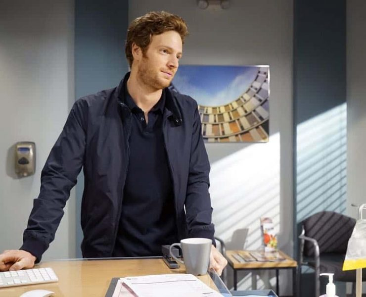"""CHICAGO MED -- """"Heavy Is The Head"""" Episode 403 -- Pictured: Nick Gehlfuss as Will Halstead -- (Photo by: Elizabeth Sisson/NBC)"""