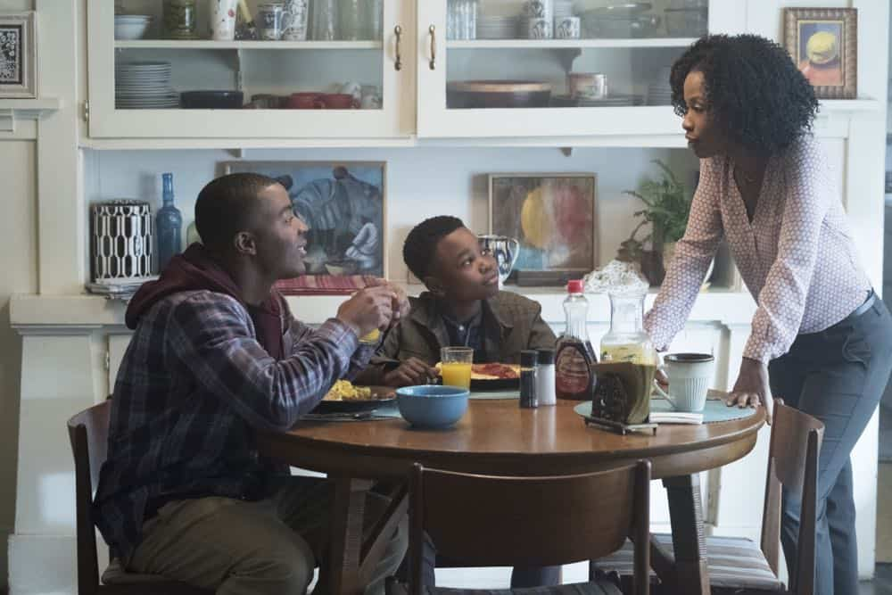 "All American -- ""Pilot""-- Image Number: ALA101b_0390ra.jpg -- Pictured (L-R): Daniel Ezra as Spencer James, Jalyn Hall as Dillon James and Karimah Westbrook as Grace James -- Photo: Patrick Wymore/The CW -- © 2018 The CW Network, LLC. All Rights Reserved"