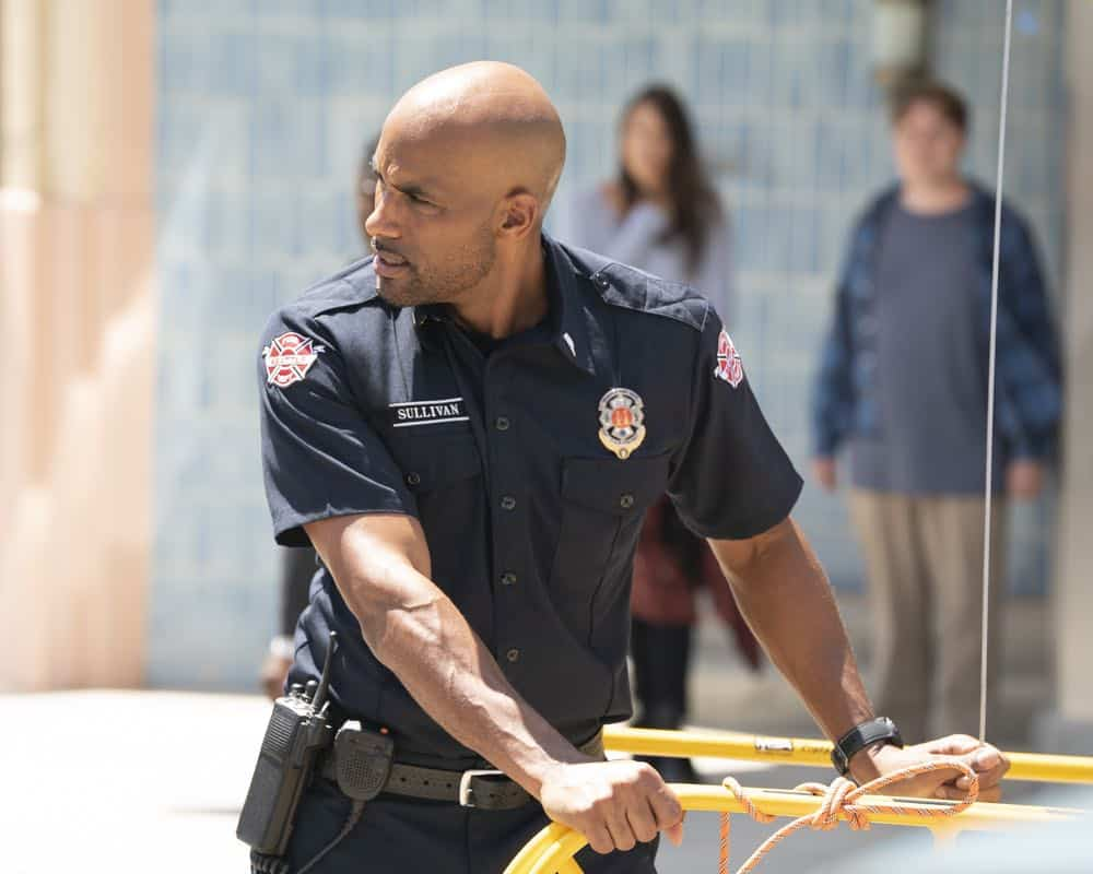 "STATION 19 - ""Under The Surface"" - It's a life-and-death situation when a young boy falls into water pipes beneath the city of Seattle. With the clock ticking, the firefighters of Station 19 jump into action to save his life, on ABC's ""Station 19,"" THURSDAY, OCT. 11 (9:01-10:00 p.m. EDT), on The ABC Television Network. (ABC/Eric McCandless) BORIS KODJOE"