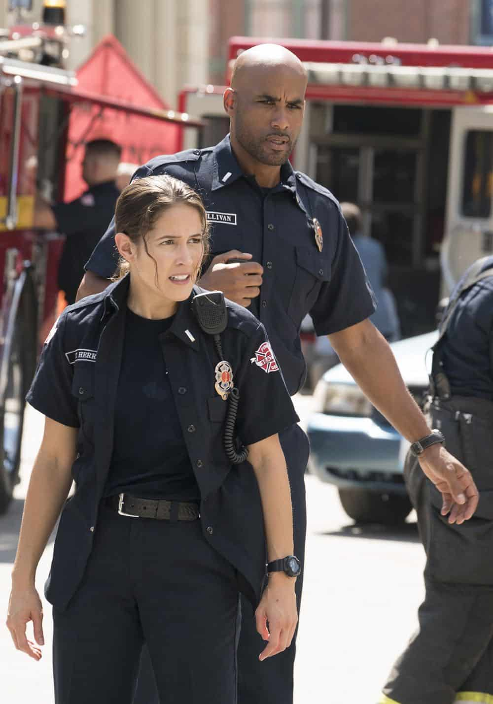 "STATION 19 - ""Under The Surface"" - It's a life-and-death situation when a young boy falls into water pipes beneath the city of Seattle. With the clock ticking, the firefighters of Station 19 jump into action to save his life, on ABC's ""Station 19,"" THURSDAY, OCT. 11 (9:01-10:00 p.m. EDT), on The ABC Television Network. (ABC/Eric McCandless) JAINA LEE ORTIZ, BORIS KODJOE, GREY DAMON"