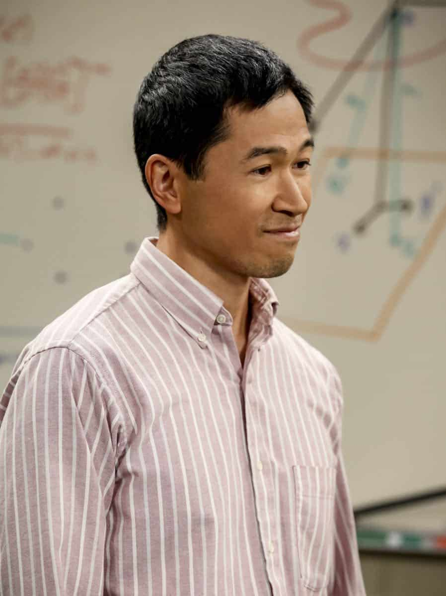 """The Tam Turbulence"" -- Pictured: Tam (Robert Wu). When Sheldon won't tell anyone why he's never mentioned Tam (Robert Wu), his childhood best friend, Leonard takes matters into his own hands. Also, Bernadette and Penny take out Raj's fiancée, Anu (Rati Gupta), for dinner to get the skinny on her, on THE BIG BANG THEORY, Thursday, Oct. 11 (8:00-8:31 PM, ET/PT) on the CBS Television Network. Jerry O'Connell returns as Sheldon's brother, George. Photo: Michael Yarish/CBS ©2018 CBS Broadcasting, Inc. All Rights Reserved."