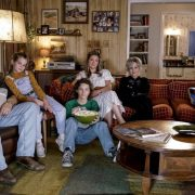 """A Financial Secret and Fish Sauce"" - Pictured: George Sr. (Lance Barber), Missy (Raegan Revord), Georgie (Montana Jordan), Mary (Zoe Perry) and Sheldon (Iain Armitage). When George Sr. asks Sheldon to keep a secret from Mary, the stress of not being honest drives Sheldon to hideout at Tam's for his first sleepover, on YOUNG SHELDON, Thursday, Oct. 11 (8:31-9:01 PM, ET/PT) on the CBS Television Network. Photo: Michael Desmond/Warner Bros. Entertainment Inc. © 2018 WBEI. All rights reserved."