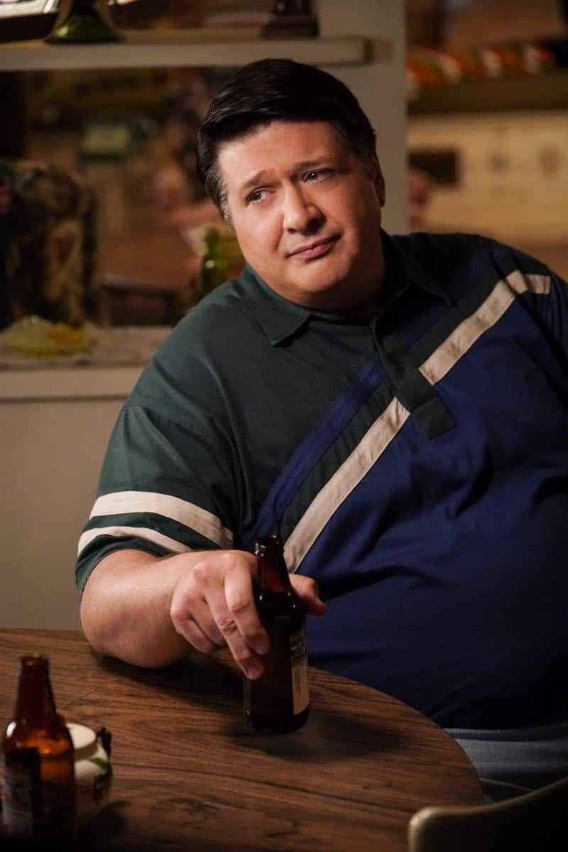 """A Financial Secret and Fish Sauce"" - Pictured: George Sr. (Lance Barber). When George Sr. asks Sheldon to keep a secret from Mary, the stress of not being honest drives Sheldon to hideout at Tam's for his first sleepover, on YOUNG SHELDON, Thursday, Oct. 11 (8:31-9:01 PM, ET/PT) on the CBS Television Network. Photo: Robert Voets/Warner Bros. Entertainment Inc. © 2018 WBEI. All rights reserved."