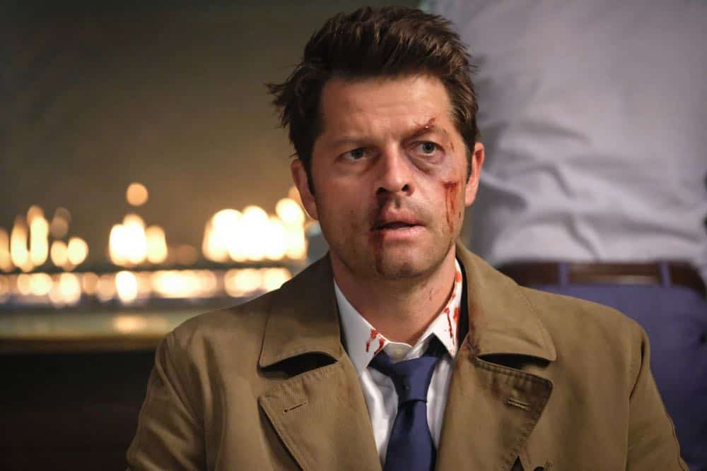 "Supernatural -- ""Stranger in a Strange Land"" -- Image Number: SN1401b_0153b.jpg -- Pictured: Misha Collins as Castiel -- Photo: Bettina Strauss/The CW -- © 2018 The CW Network, LLC All Rights Reserved"