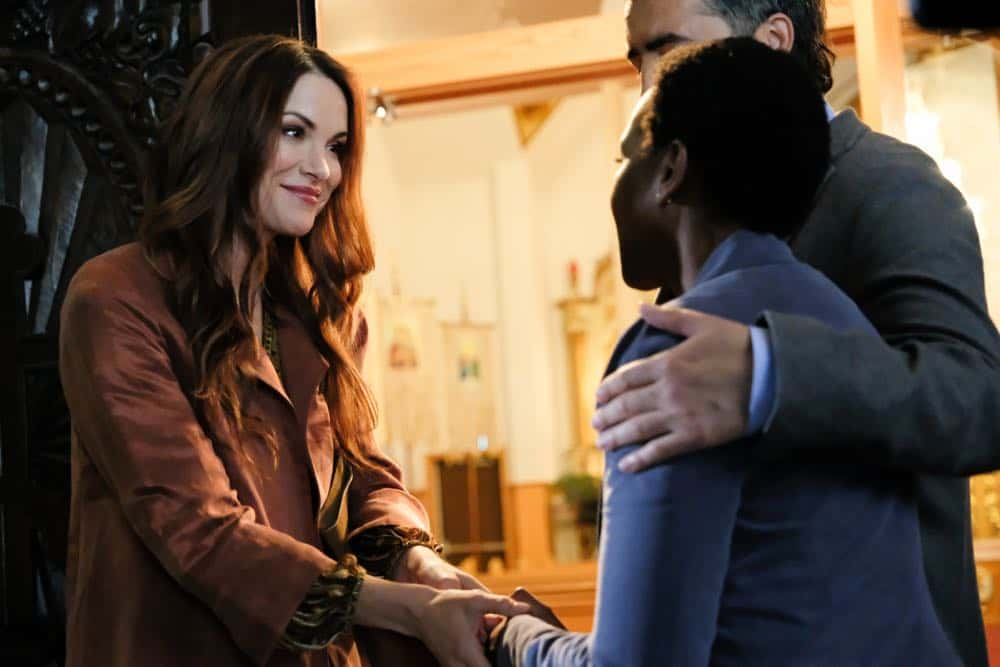 "Supernatural -- ""Stranger in a Strange Land"" -- Image Number: SN1401a_0069b.jpg -- Pictured: Danneel Ackles as Anael -- Photo: Bettina Strauss/The CW -- © 2018 The CW Network, LLC All Rights Reserved"