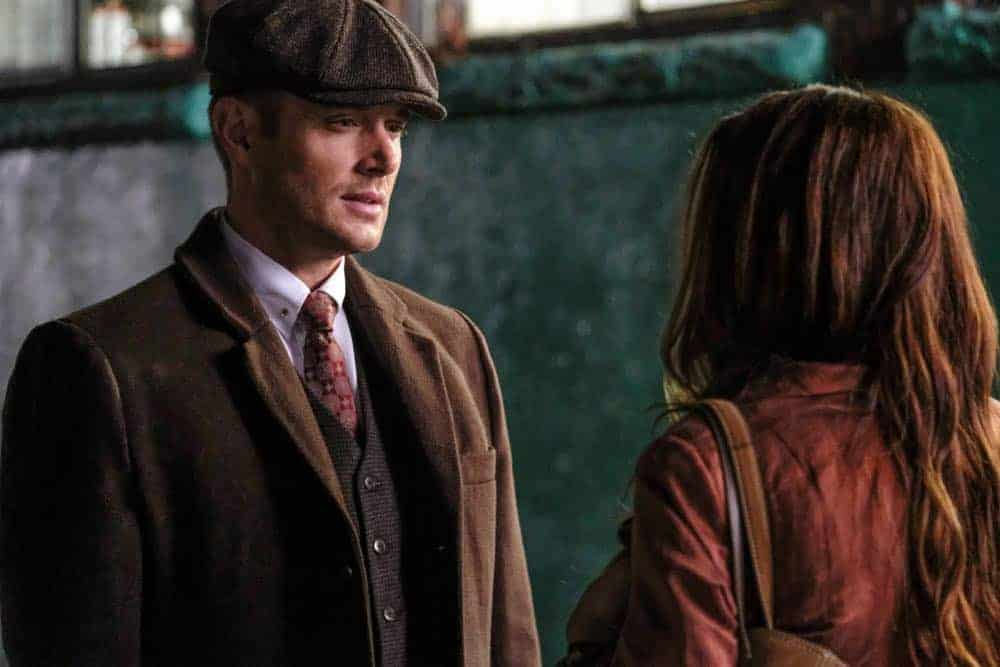 "Supernatural -- ""Stranger in a Strange Land"" -- Image Number: SN1401a_0211b.jpg -- Pictured (L-R): Jensen Ackles as Dean/Michael and Danneel Ackles as Anael -- Photo: Bettina Strauss/The CW -- © 2018 The CW Network, LLC All Rights Reserved"