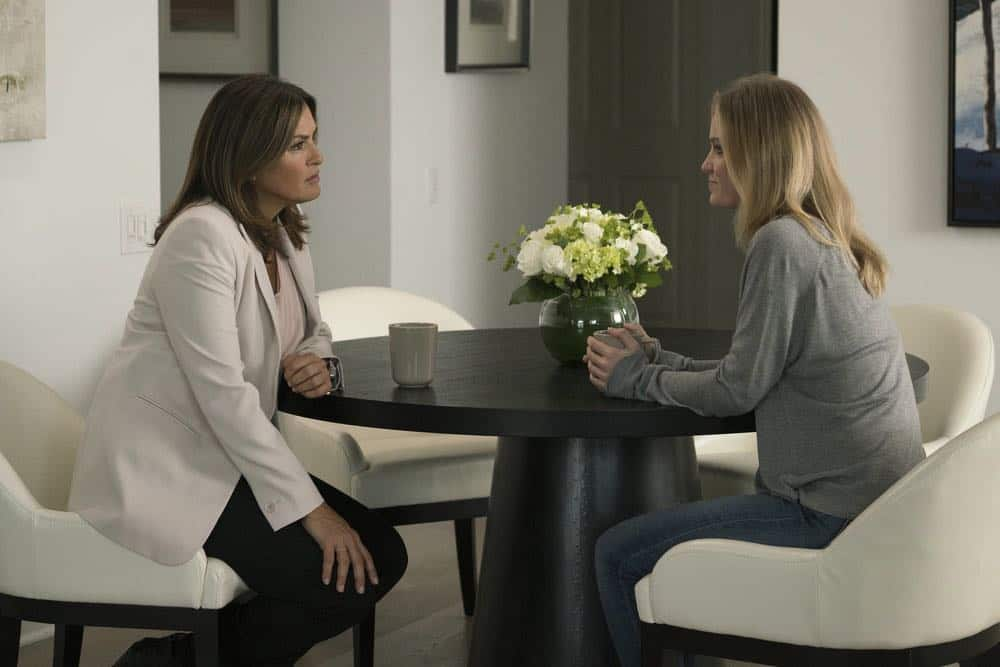 "LAW & ORDER: SPECIAL VICTIMS UNIT -- ""Revenge"" Episode 2004 -- Pictured: (l-r) Mariska Hargitay as Lieutenant Olivia Benson, Sarah Rich as Anne Whitman -- (Photo by: Barbara Nitke/NBC)"