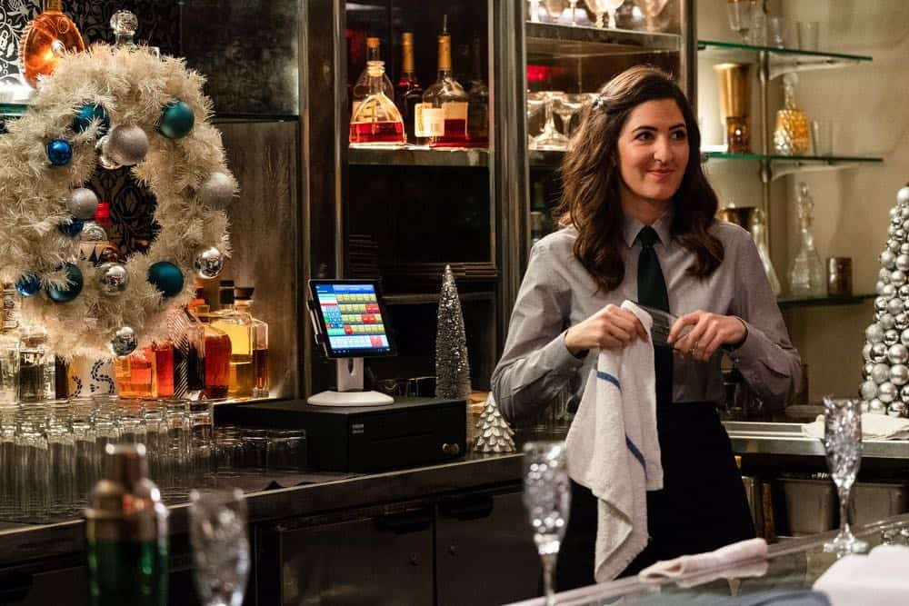 "THE GOOD PLACE -- ""The Snowplow"" Episode 304 -- Pictured: D'Arcy Carden as Janet -- (Photo by: Colleen Hayes/NBC)"