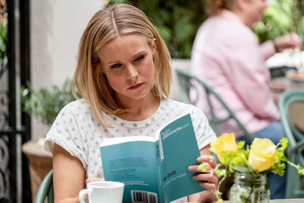"THE GOOD PLACE -- ""The Snowplow"" Episode 304 -- Pictured: Kristen Bell as Eleanor Shellstrop -- (Photo by: Colleen Hayes/NBC)"