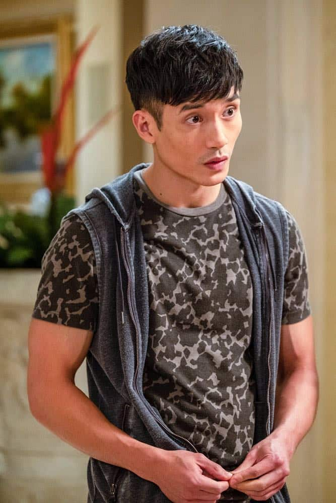 "THE GOOD PLACE -- ""The Snowplow"" Episode 304 -- Pictured: Manny Jacinto as Jason Mendoza -- (Photo by: Colleen Hayes/NBC)"