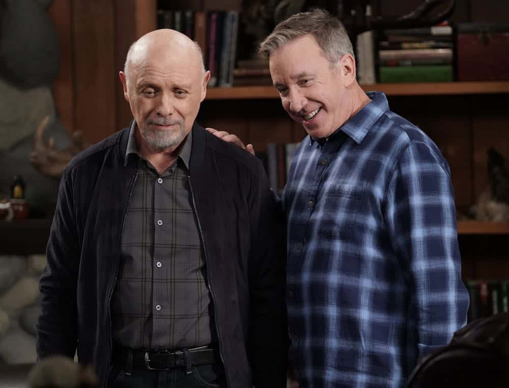 "LAST MAN STANDING: L-R: Hector Elizando and Tim Allen in the ""Giving Mike The Business"" episode of LAST MAN STANDING airing Friday, Oct. 12 (8:00-8:30 PM ET/PT) on FOX. © 2018 FOX Broadcasting. CR: Michael Becker / FOX."