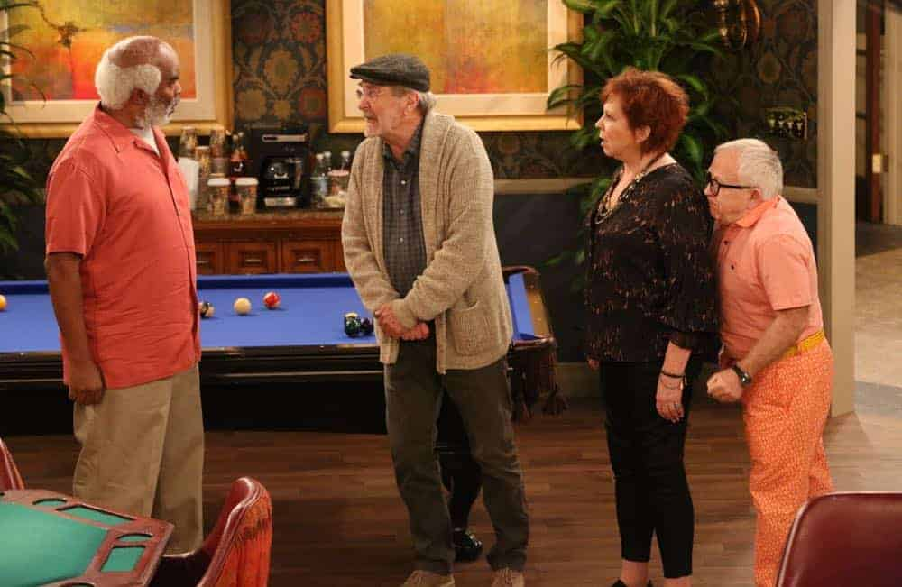 """THE COOL KIDS: L-R: David Alan Grier, Martin Mull, Vicki Lawrence and Leslie Jordan in the """"A Date With Destiny"""" episode of THE COOL KIDS airing Friday, Oct. 12 (8:30-9:00 PM ET/PT) on FOX. ©2018 Fox Broadcasting Co. Cr: Patrick McElhenney/FOX"""