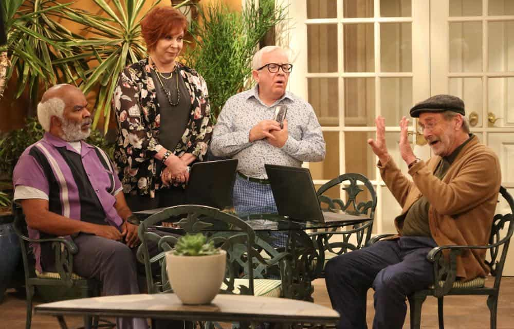 """THE COOL KIDS: L-R: David Alan Grier, Vicki Lawrence, Leslie Jordan and Martin Mull in the """"A Date With Destiny"""" episode of THE COOL KIDS airing Friday, Oct. 12 (8:30-9:00 PM ET/PT) on FOX. ©2018 Fox Broadcasting Co. Cr: Patrick McElhenney/FOX"""