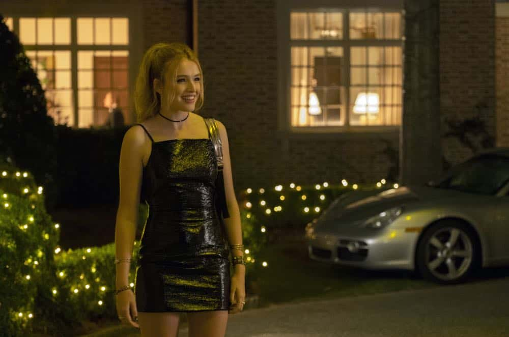"""Dynasty -- """"Twenty-Three Skidoo""""-- Image Number: DYN201a_0420b2.jpg -- Pictured: Maddison Brown as Kirby -- Photo: Wilford Harewood/The CW -- © 2018 The CW Network, LLC. All Rights Reserved"""